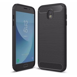 Funda Gel Tpu Tipo Carbon Negra para Samsung Galaxy J5 (2017)
