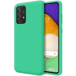 Funda Silicona Líquida Ultra Suave para Samsung Galaxy A52 / A52 5G Color Verde