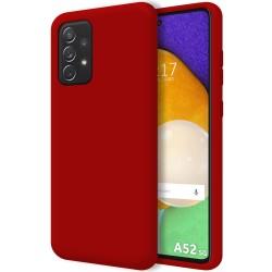Funda Silicona Líquida Ultra Suave para Samsung Galaxy A52 / A52 5G Color Roja