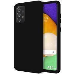 Funda Silicona Líquida Ultra Suave para Samsung Galaxy A52 / A52 5G Color Negra