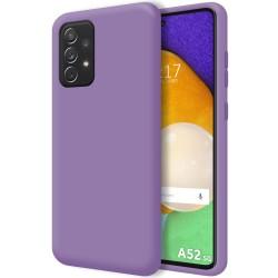 Funda Silicona Líquida Ultra Suave para Samsung Galaxy A52 / A52 5G Color Morada