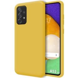 Funda Silicona Líquida Ultra Suave para Samsung Galaxy A52 / A52 5G Color Amarilla