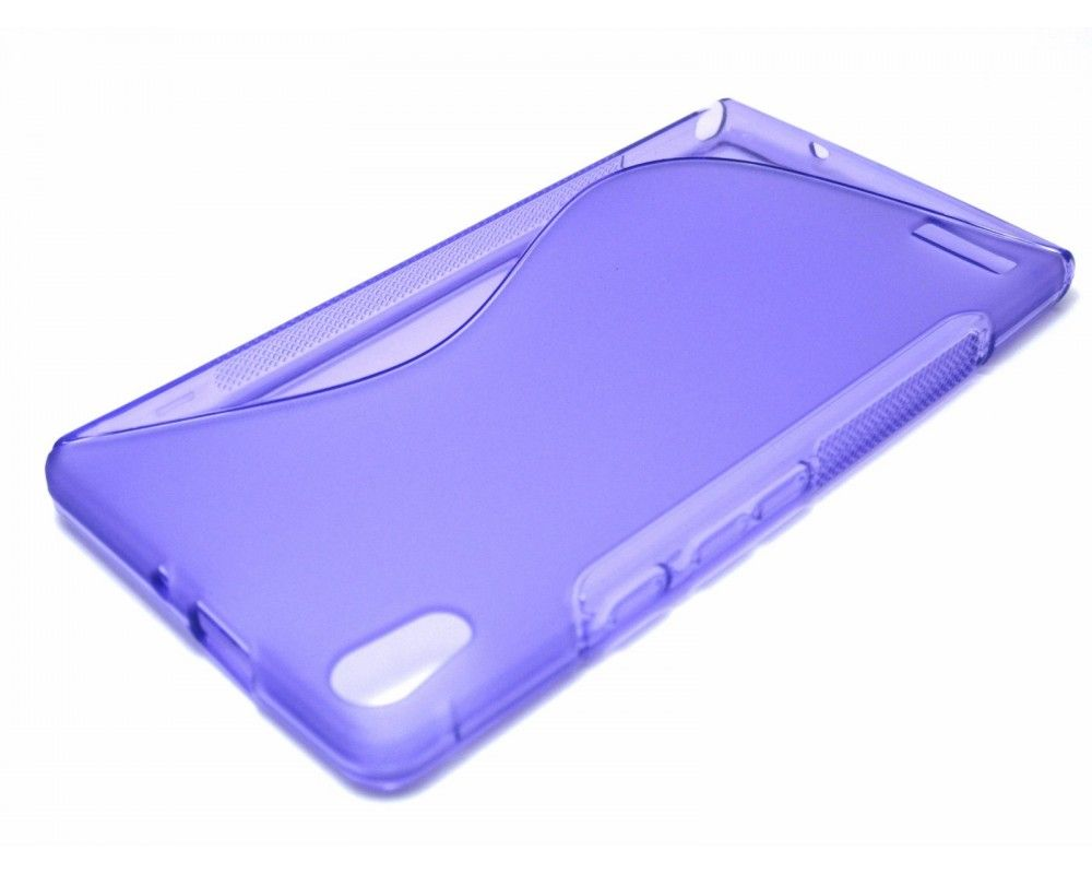 Funda Gel Tpu Huawei Ascend P6 S Line Color Morada