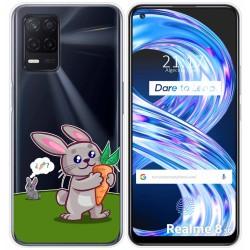Funda Gel Transparente para Realme 8 5G diseño Conejo Dibujos