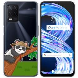 Funda Gel Transparente para Realme 8 5G diseño Panda Dibujos