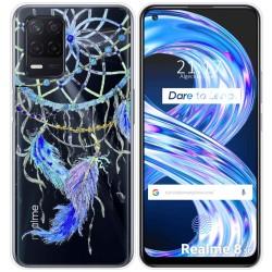 Funda Gel Transparente para Realme 8 5G diseño Plumas Dibujos