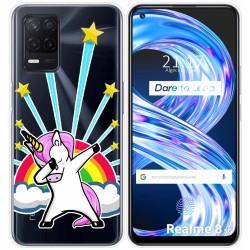 Funda Gel Transparente para Realme 8 5G diseño Unicornio Dibujos