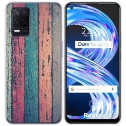 Funda Gel Tpu para Realme 8 5G diseño Madera 10 Dibujos