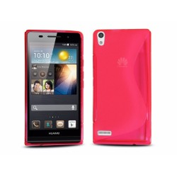 Funda Gel Tpu Huawei Ascend P6 S Line Color Rosa