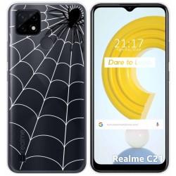 Funda Gel Transparente para Realme C21 diseño Araña Dibujos