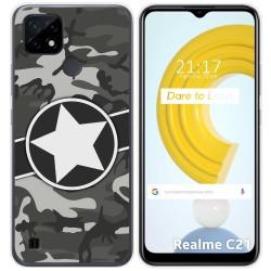 Funda Gel Tpu para Realme C21 diseño Camuflaje 02 Dibujos