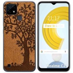 Funda Gel Tpu para Realme C21 diseño Cuero 03 Dibujos