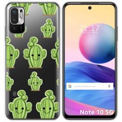 Funda Gel Transparente para Xiaomi Redmi Note 10 5G / POCO M3 PRO 5G diseño Cactus Dibujos