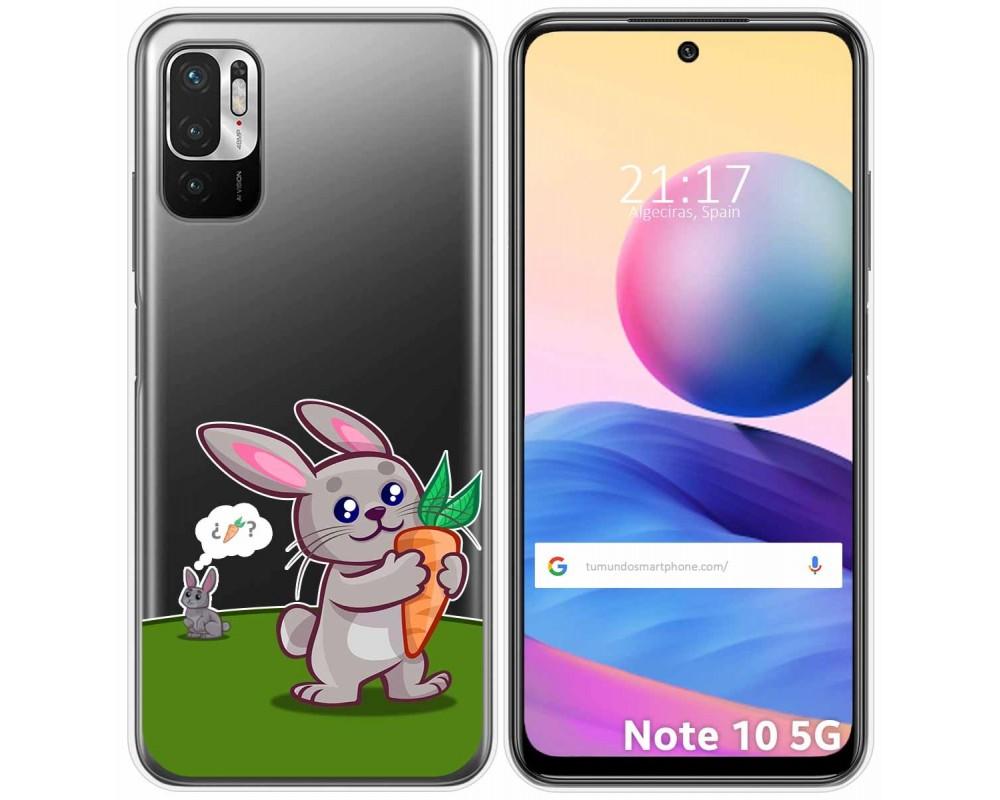 Funda Gel Transparente para Xiaomi Redmi Note 10 5G / POCO M3 PRO 5G diseño Conejo Dibujos