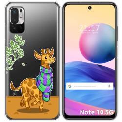 Funda Gel Transparente para Xiaomi Redmi Note 10 5G / POCO M3 PRO 5G diseño Jirafa Dibujos