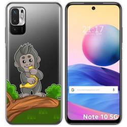 Funda Gel Transparente para Xiaomi Redmi Note 10 5G / POCO M3 PRO 5G diseño Mono Dibujos