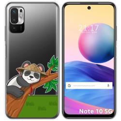 Funda Gel Transparente para Xiaomi Redmi Note 10 5G / POCO M3 PRO 5G diseño Panda Dibujos