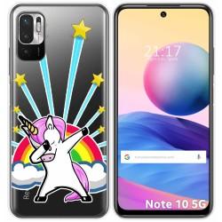 Funda Gel Transparente para Xiaomi Redmi Note 10 5G / POCO M3 PRO 5G diseño Unicornio Dibujos