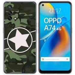 Funda Gel Tpu para Oppo A74 4G diseño Camuflaje 01 Dibujos