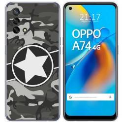 Funda Gel Tpu para Oppo A74 4G diseño Camuflaje 02 Dibujos