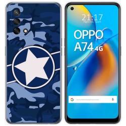 Funda Gel Tpu para Oppo A74 4G diseño Camuflaje 03 Dibujos
