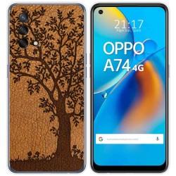 Funda Gel Tpu para Oppo A74 4G diseño Cuero 03 Dibujos
