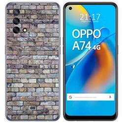 Funda Gel Tpu para Oppo A74 4G diseño Ladrillo 02 Dibujos