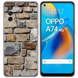 Funda Gel Tpu para Oppo A74 4G diseño Ladrillo 03 Dibujos