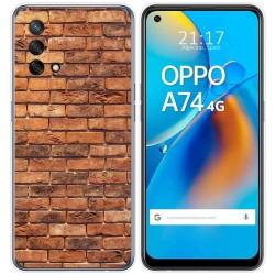 Funda Gel Tpu para Oppo A74 4G diseño Ladrillo 04 Dibujos