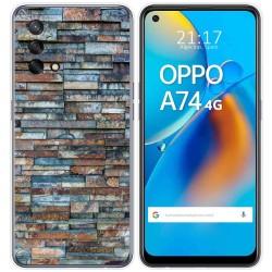 Funda Gel Tpu para Oppo A74 4G diseño Ladrillo 05 Dibujos