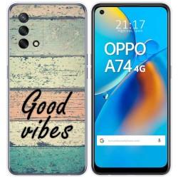 Funda Gel Tpu para Oppo A74 4G diseño Madera 01 Dibujos