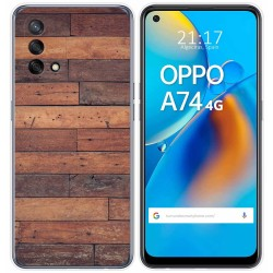 Funda Gel Tpu para Oppo A74 4G diseño Madera 03 Dibujos