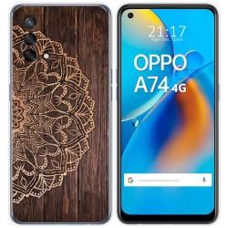 Funda Gel Tpu para Oppo A74 4G diseño Madera 06 Dibujos
