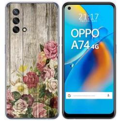Funda Gel Tpu para Oppo A74 4G diseño Madera 08 Dibujos