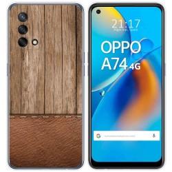 Funda Gel Tpu para Oppo A74 4G diseño Madera 09 Dibujos