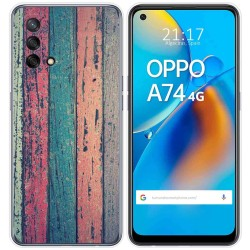 Funda Gel Tpu para Oppo A74 4G diseño Madera 10 Dibujos