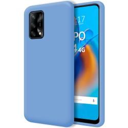 Funda Silicona Líquida Ultra Suave para Oppo A74 4G color Azul