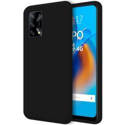 Funda Silicona Líquida Ultra Suave para Oppo A74 4G color Negra