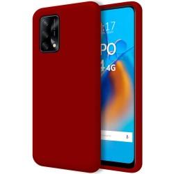 Funda Silicona Líquida Ultra Suave para Oppo A74 4G color Roja