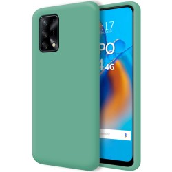 Funda Silicona Líquida Ultra Suave para Oppo A74 4G color Verde
