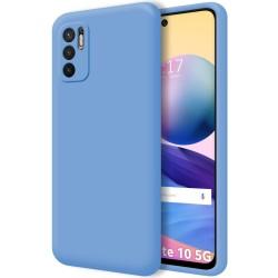 Funda Silicona Líquida Ultra Suave para Xiaomi Redmi Note 10 5G / POCO M3 PRO 5G color Azul