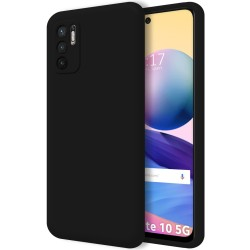 Funda Silicona Líquida Ultra Suave para Xiaomi Redmi Note 10 5G / POCO M3 PRO 5G color Negra