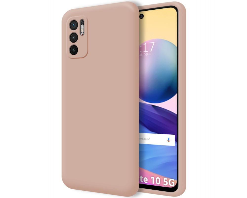 Funda Silicona Líquida Ultra Suave para Xiaomi Redmi Note 10 5G / POCO M3 PRO 5G color Rosa