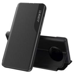 Funda Libro Soporte Magnética Eco Piel con Ventana para Xiaomi Redmi Note 9T 5G Negra