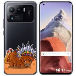 Funda Gel Transparente para Xiaomi Mi 11 Ultra 5G diseño Bufalo Dibujos