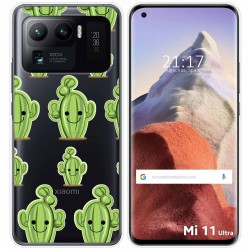 Funda Gel Transparente para Xiaomi Mi 11 Ultra 5G diseño Cactus Dibujos