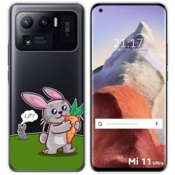 Funda Gel Transparente para Xiaomi Mi 11 Ultra 5G diseño Conejo Dibujos