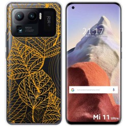 Funda Gel Transparente para Xiaomi Mi 11 Ultra 5G diseño Hojas Dibujos