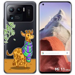 Funda Gel Transparente para Xiaomi Mi 11 Ultra 5G diseño Jirafa Dibujos