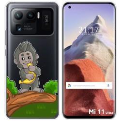 Funda Gel Transparente para Xiaomi Mi 11 Ultra 5G diseño Mono Dibujos